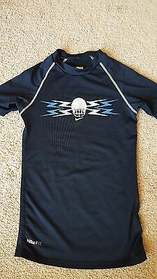 Nike Fit Dry Boys Size Small (8) Tight Fit Short Sleeve Shirt.