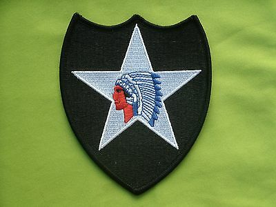 Military Shoulder Patch WW2 US Army 2nd Infantry Five Point Star