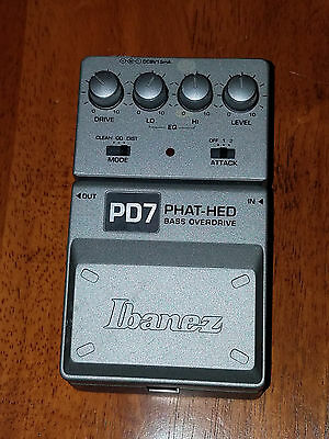 Ibanez Pd7 Phat-Hed Bass Overdrive Guitar Pedal Great Shape Guaranteed To Work