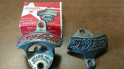 Coca Cola STARR X Bottle Opener Brown Co. Wall Mount - Unused with box no screws