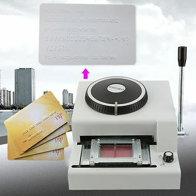 72-Character PVC Card Embosser Embossing Machine Stamping Credit ID VIP Magnetic