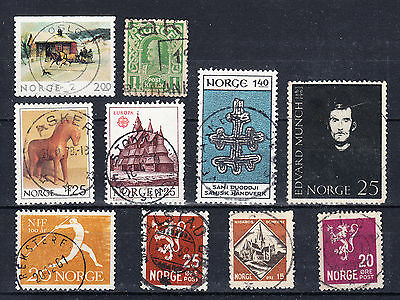 NORWAY - Collection of  Nice Postmark stamps - Edvard Munch - L625