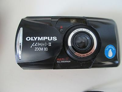 Olympus µmju: Zoom Wide 80. 35mm Compact Film Camera. Black.