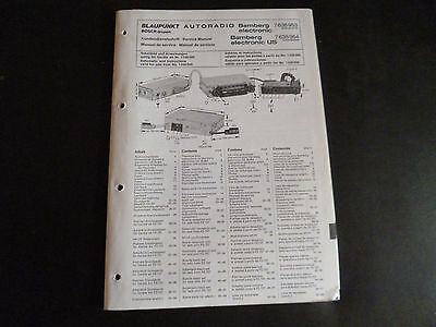 Original Service Manual Blaupunkt Autoradio Bamberg electronic / US