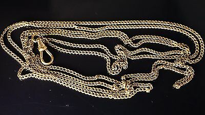 Antique gold filled pocket watch long  double chain/Fob 52 inches