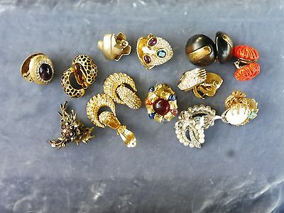 Lot Of Mostly Signed Costume Jewelry Earrings Including Christian Dior And Jomaz