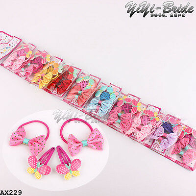 Wholesale 40pcs Mixed Bow Butterfly Baby Kids Girls Hair Pins Clips Hair Bands