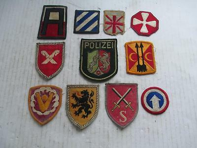 Mixed Lot, Cloth Patch Badges, Military, Football, Travel? 11 Badges. Lot 3.