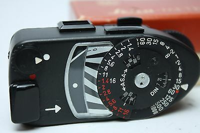 Leica Leicameter MR4 Light Meter Black BOXED from Japan Near Mint