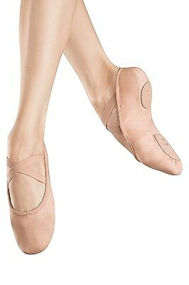 Adult Bloch Full Leather Sole Ballet Slippers PINK 8.5