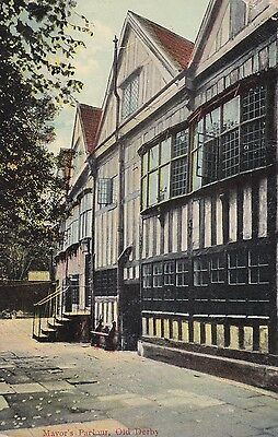 Postcard - Mayor's Parlour - Old Derby - 1907