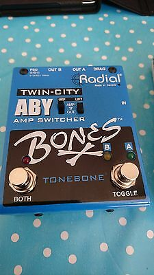 Radial Engineering Bones Twin City Buffered ABY Pedal - MINT Condition