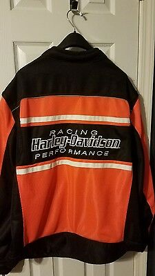 Harley Davidson men's riding jacket with armour.  size 3XL.  used