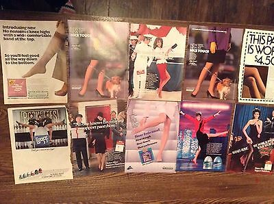 Lot of Pantyhose ads  Clippings Magazine Cut Outs
