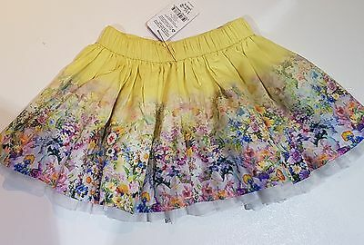 Gorgeous yellow floral skirt age 18-24 months. BNWT.