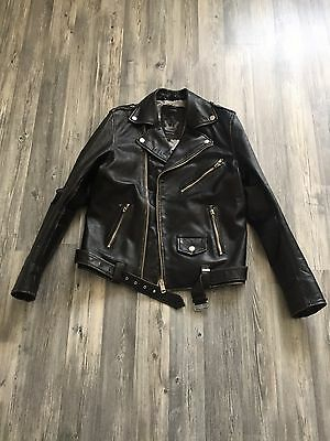 Diesel Biker Rocker Lederjacke Leather Jacket Black L UVP899€