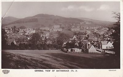 Postcard - Hathersage - General View - RP 1913