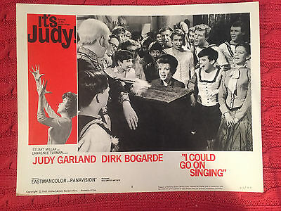 I Could Go On Singing 1963 United Artists musical lobby card Judy Garland