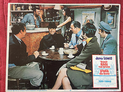 Don't Raise The Bridge Lower The River 1968 Columbia lobby card Jerry Lewis