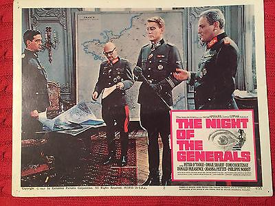 The Night Of The Generals 1967 Columbia lobby card Peter O'Toole