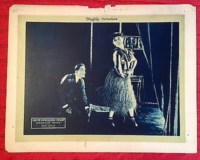 Are Floorwalkers Fickle? 1919 silent comedy lobby card George Ovey