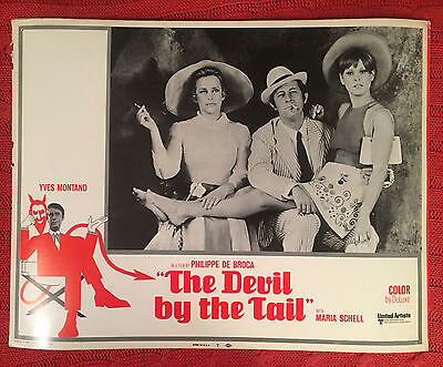 The Devil By The Tail 1969 United Artists lobby card Yves Montand Maria Schell