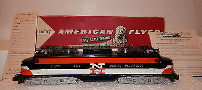 American Flyer Rare 499 New Haven GE Electric Locomotive Close To New OB