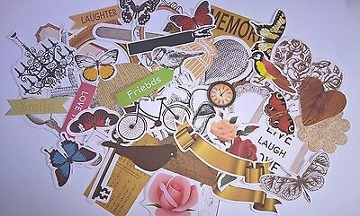 Vintage or Natural Die Cut Shapes Scrapbooking Card making Home Decor Journals