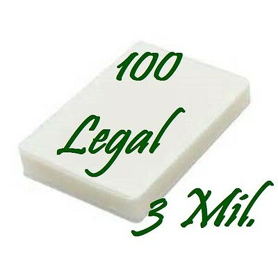 Ultra Clear 100 LEGAL SIZE  Laminating Laminator Pouches Sheets 9 x 14-1/2 3 Mil