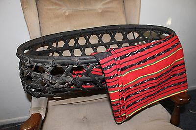 Antique Ifugao Duyan Swinging Baby Cradle W/ Shoes & Blanket 100 To 200Yrs Old