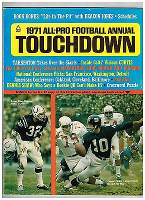 1971 All-Pro Football Annual TOUCHDOWN