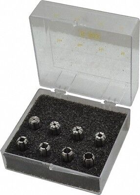 Kennametal 8 Piece, 3/64 to 1/4 Inch Capacity, Double Angle Collet Set Collet...