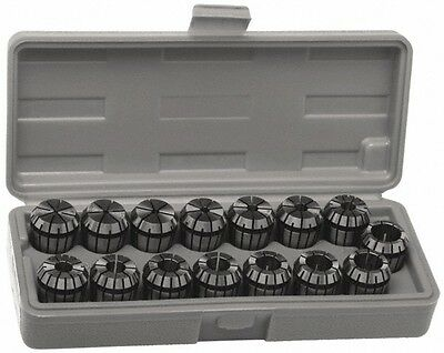 Accupro 10 Piece, 1/8 to 13/32 Inch Capacity, ER Coolant Collet Set 0.02 Inch...