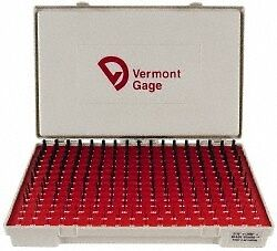 Vermont Gage 240 Piece, 0.011-0.25 Inch Diameter Plug and Pin Gage Set Plus 0...