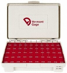Vermont Gage 50 Piece, 0.0115-0.0605 Inch Diameter Plug and Pin Gage Set Minu...