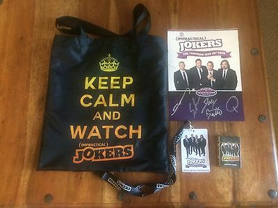 Impractical Jokers Tour Merchandise Package - Hand Signed Photo, playing cards..