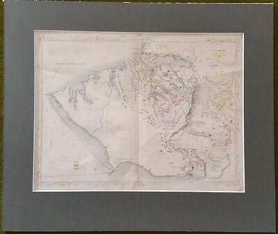 19th Century Crimean War Map of the Siege of Sebastopol Circa 1855