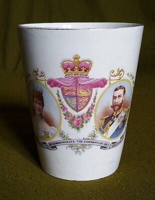 George V Coronation Commemorative Beaker Presented by Bethnal Green Council