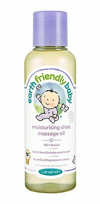Earth Friendly Baby Organic Moisturising Shea Baby Massage Oil - 100% Natural
