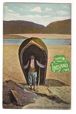 IRISH FISHING CORACLE, CO DONEGAL by LAWRENCE, DUBLIN c1910