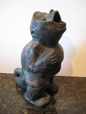 Vintage Figural Pottery Vase Ewer Standing Monkey Man Pre Columbian Style
