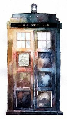 Doctor who tardis blueprint graphic art poster print t423 599 00087 doctor who tardis watercolour art image poster print malvernweather Images