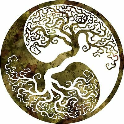 DXF CNC dxf for Plasma Router Clip Art Vector Tree of life_yin yang Wall Art