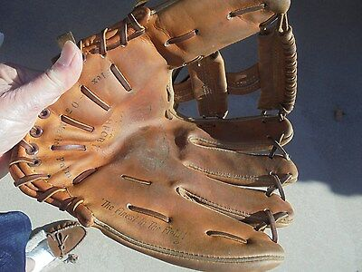 Brooks Robinson Usa Made Wing Tip Holdster Fastback Model Baseball Glove