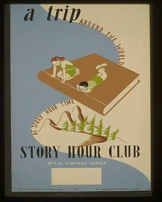 07352 A Trip Around The World Story Hour Time Wpa Poster Art Print