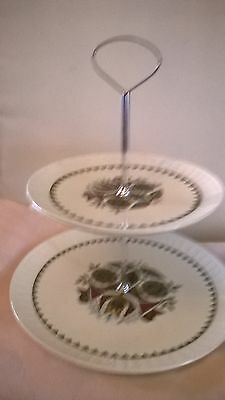 Two teir cake stand by Palissy.