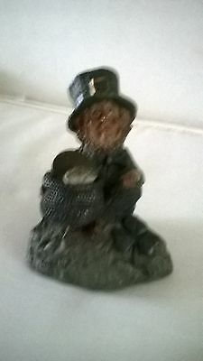 ornament of Leprechaun named Collin from pot of gold with coin