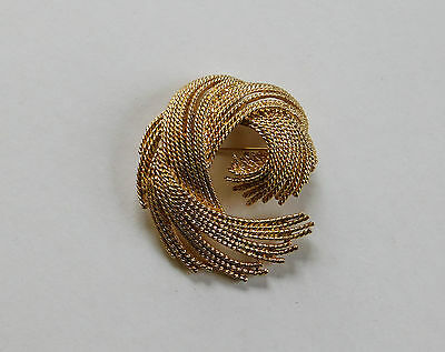 Vintage Signed Monet Gold Tone Brooch Pin Urchin #23