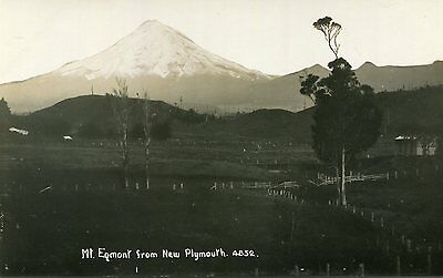 1950s postcard Mont Egmont from New Plymouth New Zealand
