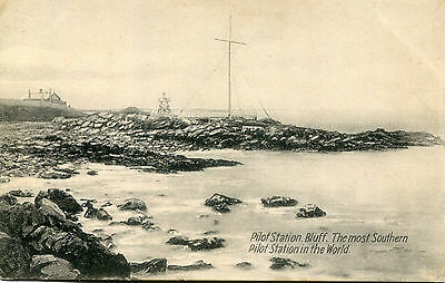 1900s postcard Pilot Station BLUFF The most Southerly in the world New Zealand